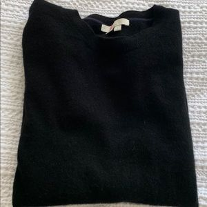 Boden cashmere crew neck sweater size M in black